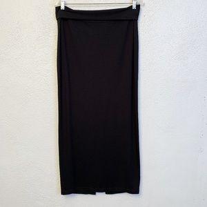 Eileen Fisher Solid Black Maxi Skirt, Sz M